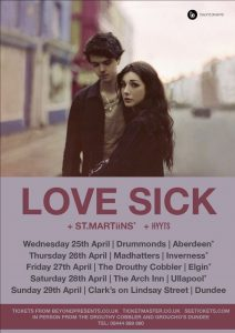 Love Sick Poster with support