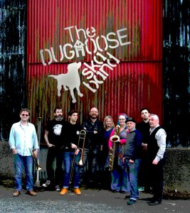 Dughoose Garage riverside pic with LOGO